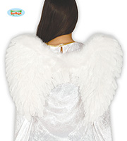Ailes plumes Blanches 50cm