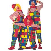 Déguisement Clown Mondriaan : salopette