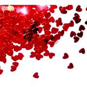 "Confettis de tables ""Coeur Rouge"" (14grs)"